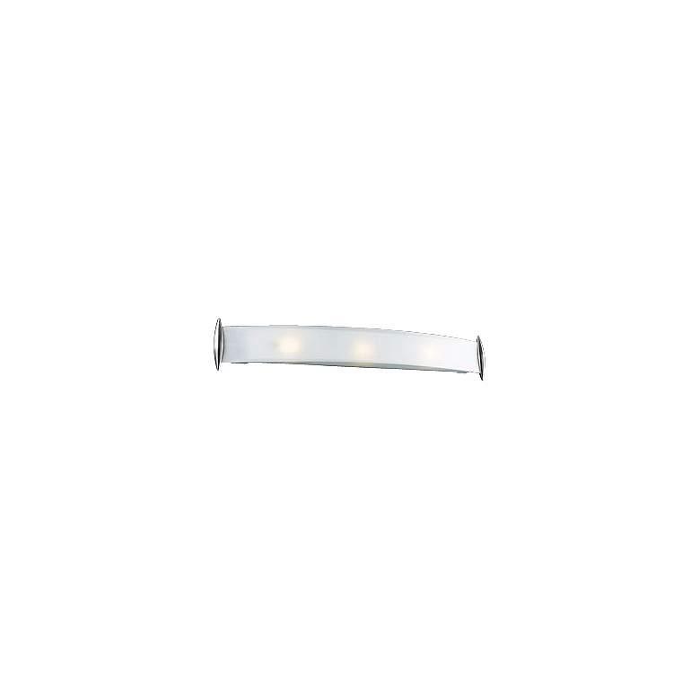"Curved Acid Frost Glass 37"" Wide Bathroom Light Fixture"
