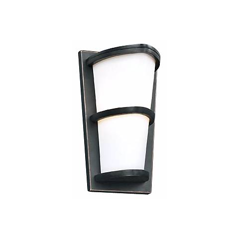 "Allegra Oil-Rubbed Bronze 13 1/4"" High Outdoor Wall Light"