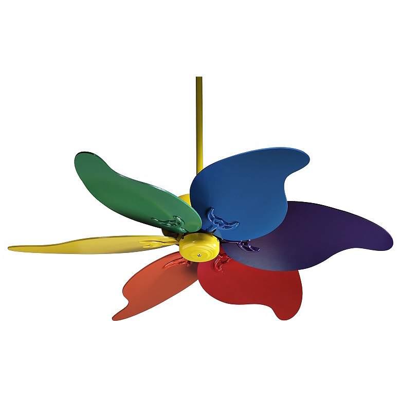 """46"""" Quorum Pinwheel Multi-Colored Ceiling Fan"""