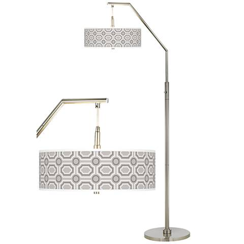 Luxe tile giclee shade arc floor lamp h5361 2v480 lamps plus luxe tile giclee shade arc floor lamp aloadofball Gallery