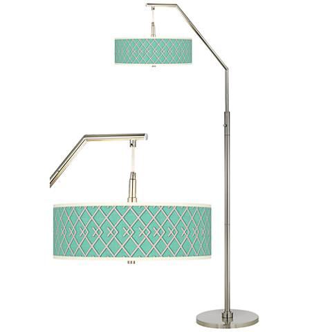 Crossings Giclee Shade Arc Floor Lamp