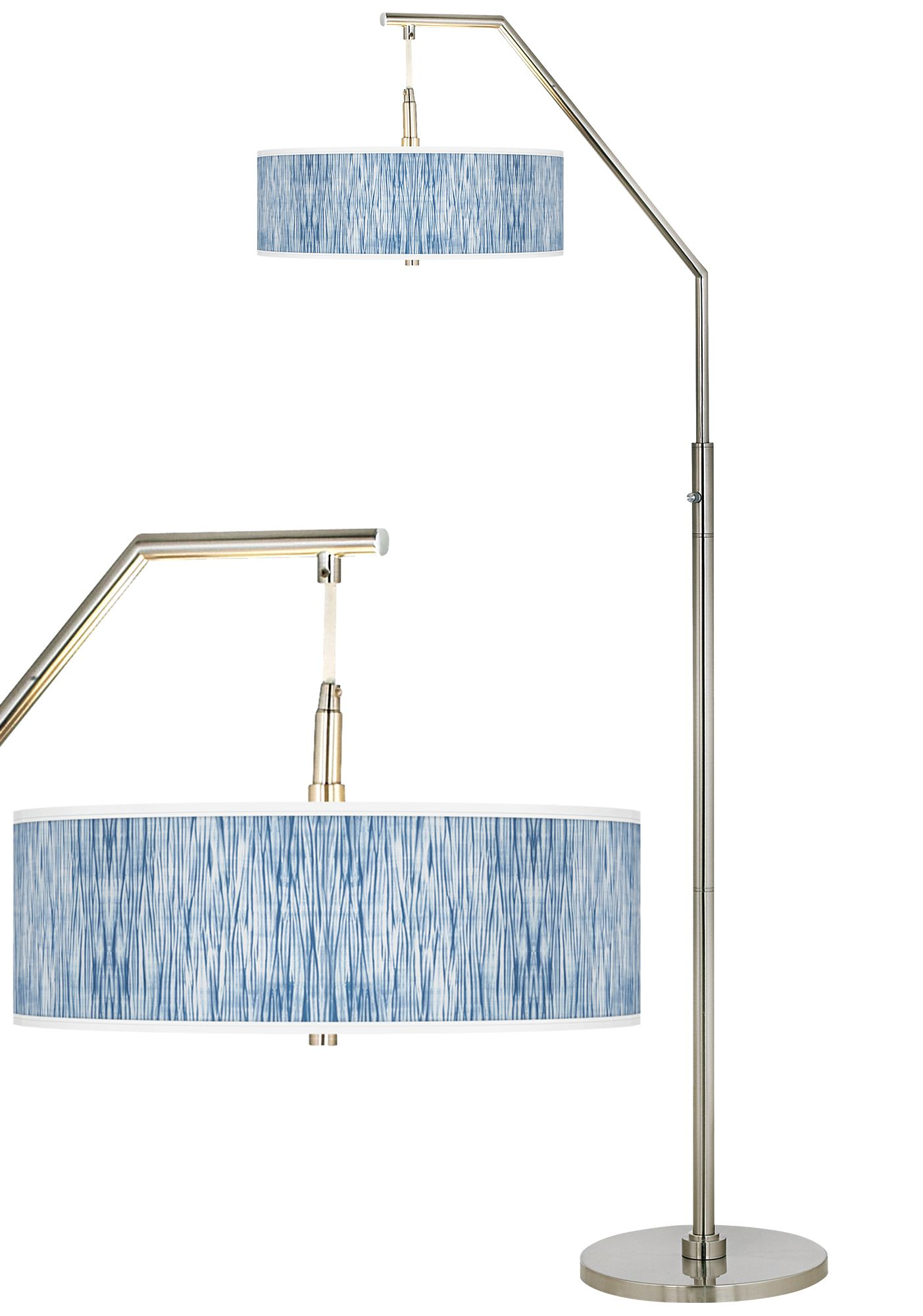 Beachcomb Giclee Shade Arc Floor Lamp