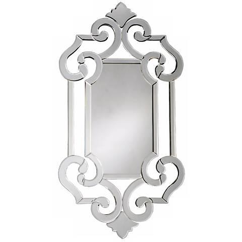 Venetian Style Wall Mirror with Fleur-de-Lis Accents