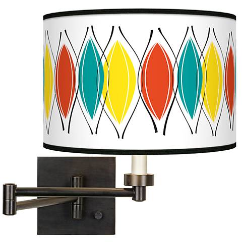Harmonium Giclee Bronze Swing Arm Wall Lamp