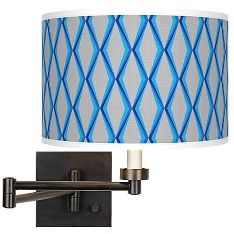 Bleu Matrix Giclee Bronze Swing Arm Wall Light