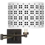 Quadrant Giclee Bronze Swing Arm Wall Lamp