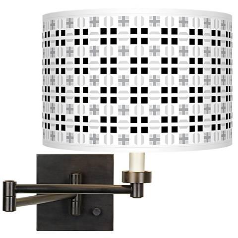 Quadrant Giclee Bronze Swing Arm Wall Lamp