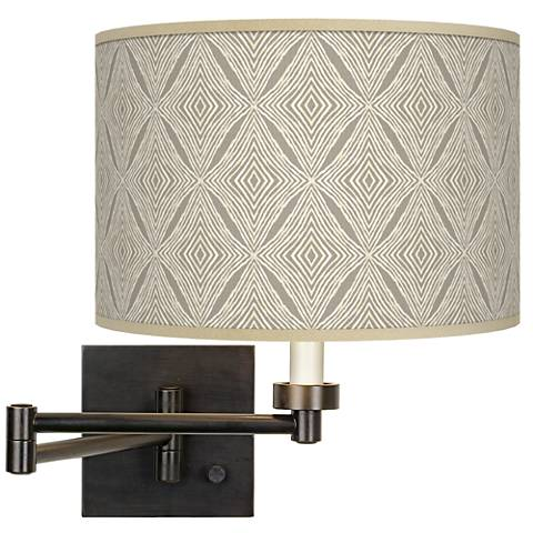 Moroccan Diamonds Giclee Bronze Swing Arm Wall Lamp