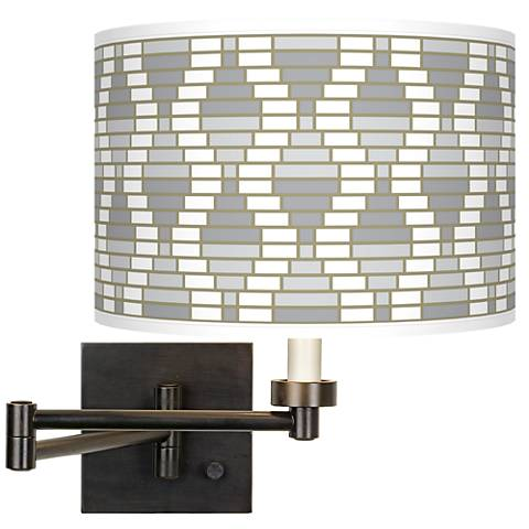 Stepping Out Giclee Bronze Swing Arm Wall Light