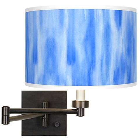 Blue Tide Giclee Bronze Swing Arm Wall Light