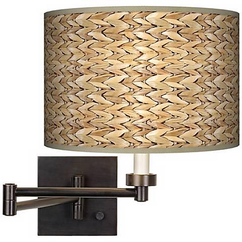 Seagrass Giclee Bronze Swing Arm Wall Light