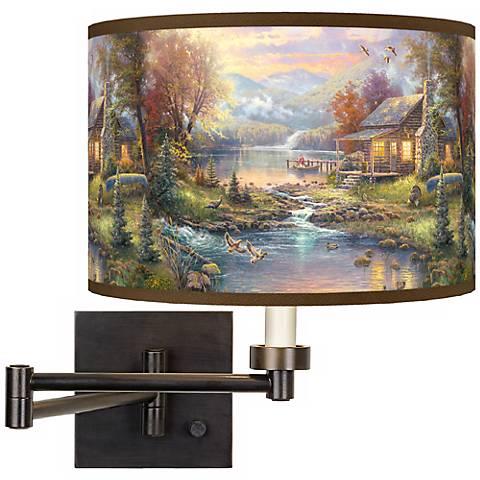 Thomas Kinkade Nature's Paradise Swing Arm Wall Light