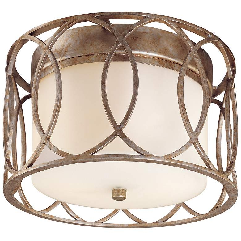 """Sausalito Collection 12 1/4"""" Wide Silver-Gold Ceiling Light"""