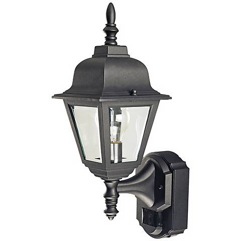 Country Cottage Black Motion Sensor Outdoor Wall Light