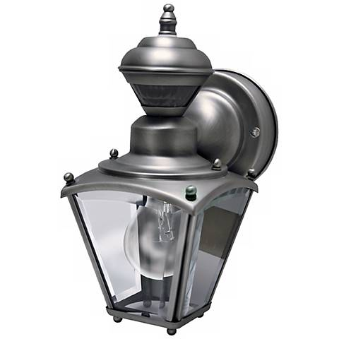 Mini Coach Silver Pewter Outdoor Wall Light