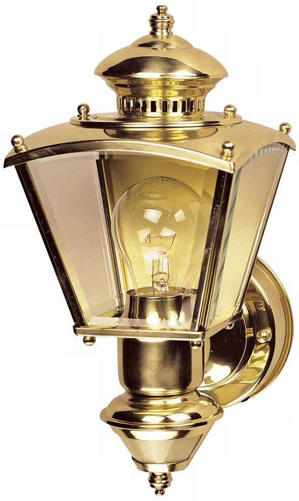 Gentil Charleston Coach Polished Brass Motion Sensor Outdoor Light