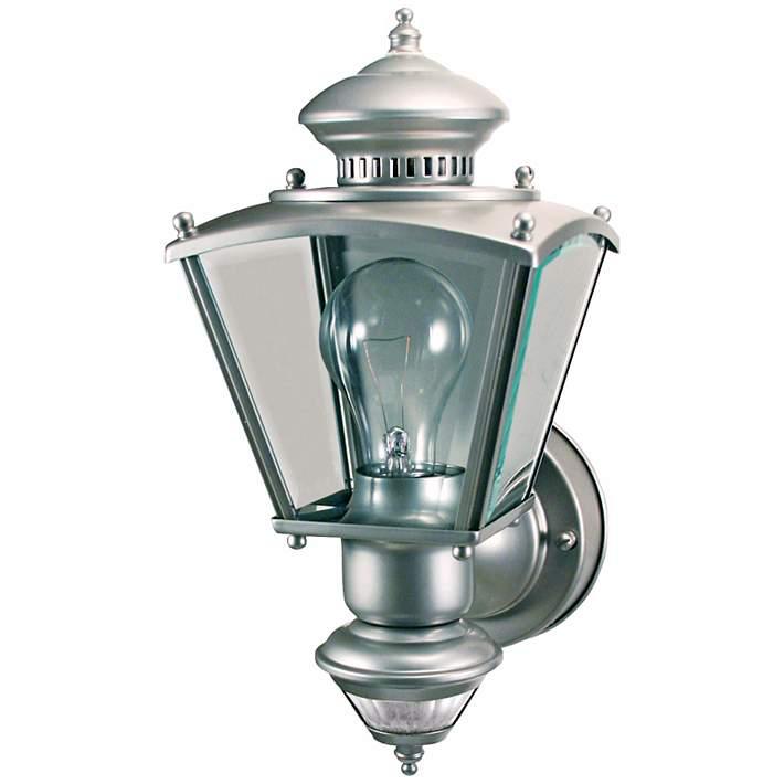 Silver Motion Sensor Outdoor Light