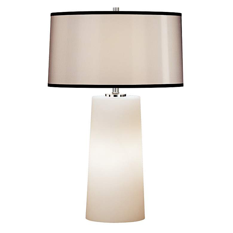 Modern White Frosted Glass Night Light Table Lamp