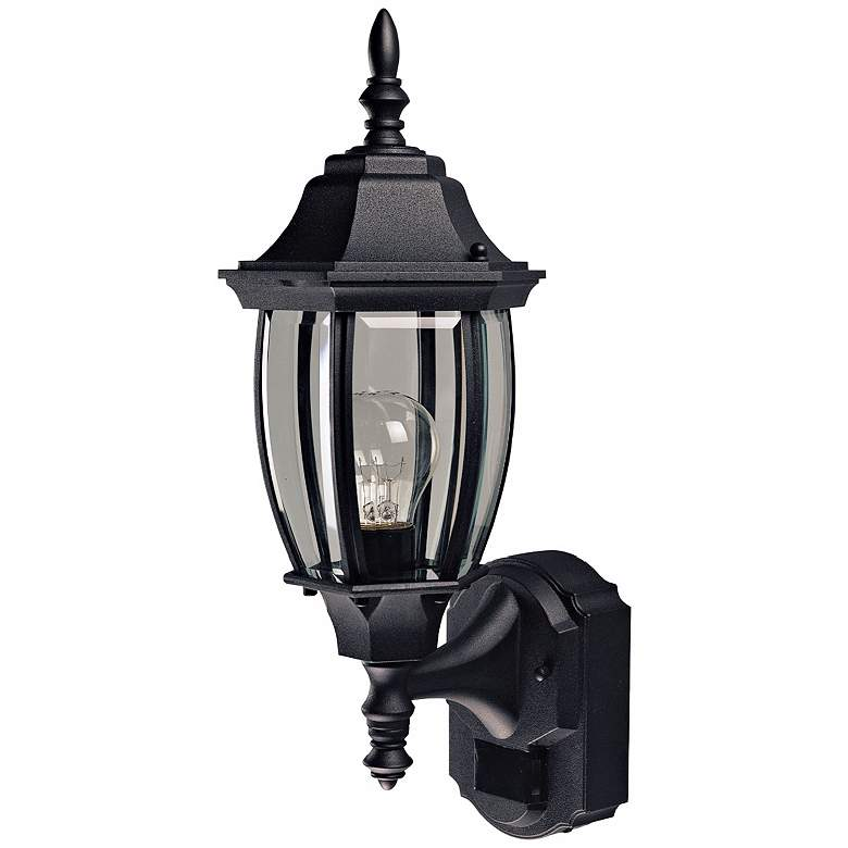 "Alexandria 18 1/2"" High Motion Sensor Outdoor Light in Black"