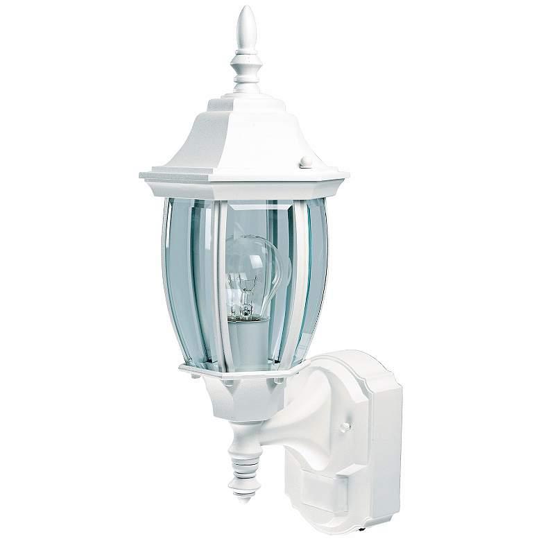 """Alexandria 18 1/2"""" High Motion Sensor Outdoor Light in White"""