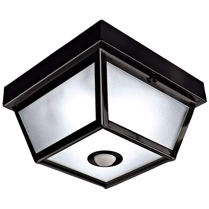 Benson Black 9 1 2 Wide Motion Sensor, Outdoor Porch Ceiling Lights With Motion Sensor