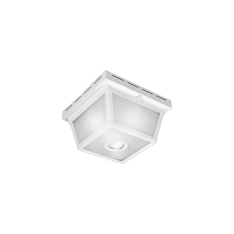 Marvelous Benson White 9 1 2 Wide Motion Sensor Outdoor Ceiling Light Download Free Architecture Designs Jebrpmadebymaigaardcom