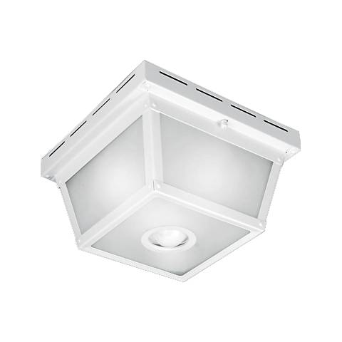 Benson white 9 12 wide motion sensor outdoor ceiling light benson white 9 12 wide motion sensor outdoor ceiling light mozeypictures Gallery
