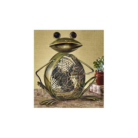 Deco Breeze Decorative Sitting Frog Fan