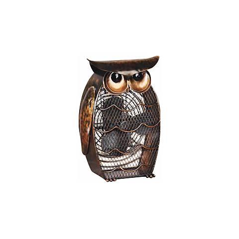 Owl Figurine Decorative Desk Fan