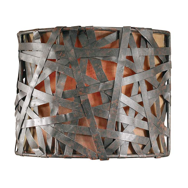 """Alita Collection Aged Black 9"""" High Wall Sconce"""