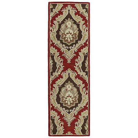 Monicaro Salsa III Red and Black Wool Area Rug