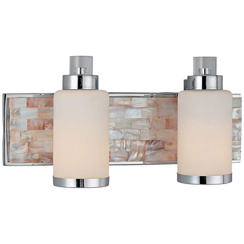 "Cashelmara Collection 17 1/4"" Wide Chrome 2-Light Bath Light"