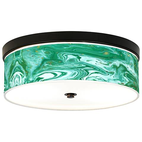 Malachite Giclee Energy Efficient Bronze Ceiling Light