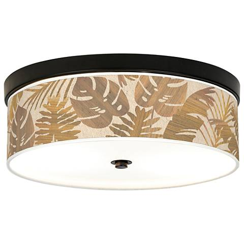 Tropical Woodwork Giclee Energy Efficient Bronze Ceiling Light