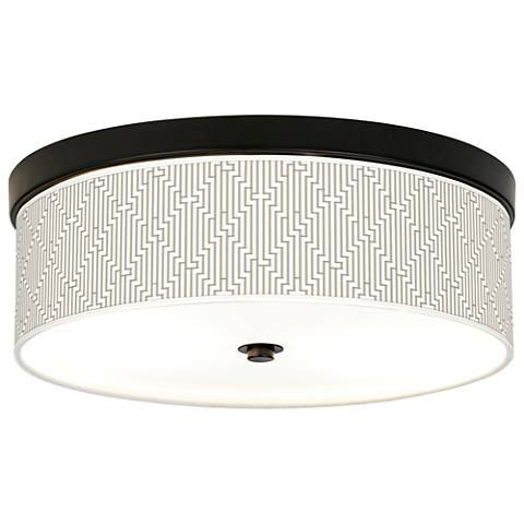 Diamond Maze Giclee Energy Efficient Bronze Ceiling Light