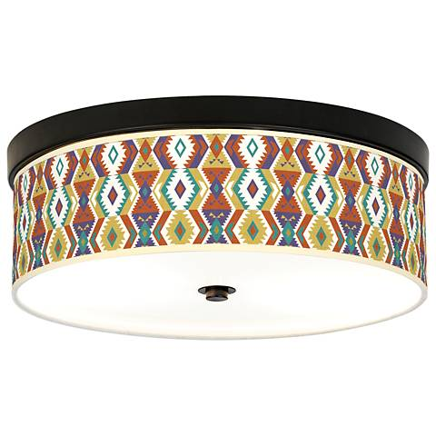Southwest Bohemian Giclee Energy Efficient Bronze Ceiling Light