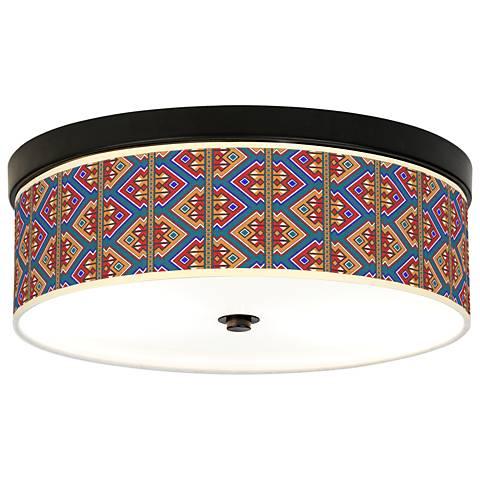 Rich Bohemian Giclee Energy Efficient Bronze Ceiling Light