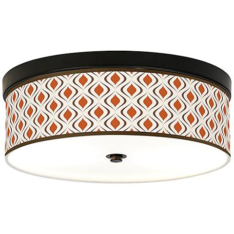 Retro Lattice Energy Efficient Bronze Ceiling Light