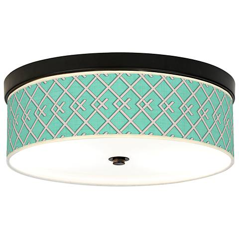 Crossings Giclee Energy Efficient Bronze Ceiling Light