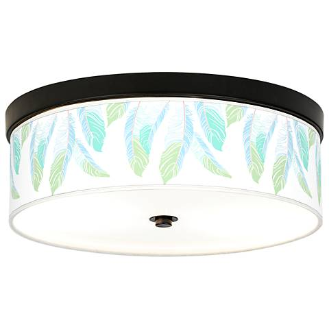 Light as a Feather Giclee Energy Efficient Bronze Ceiling Light