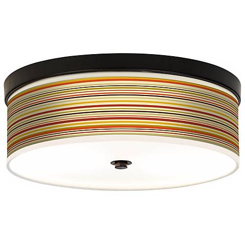 Stacy Garcia Lemongrass Stripe CFL Bronze Ceiling Light