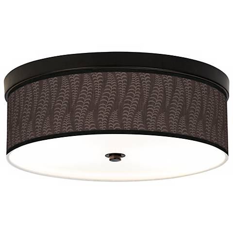 Stacy Garcia Fancy Fern Taupe Bronze CFL Ceiling Light
