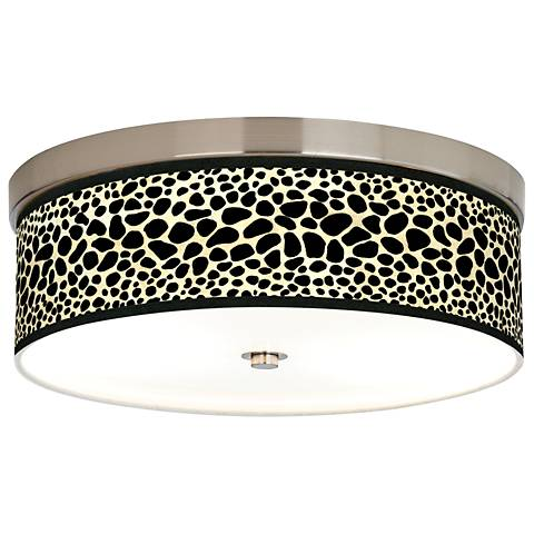 Leopard Giclee Energy Efficient Ceiling Light