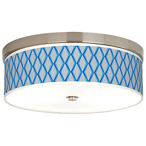 Blue Matrix Giclee Energy Efficient Ceiling Light