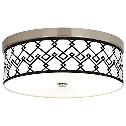 Diamond Chain Giclee Energy Efficient Ceiling Light