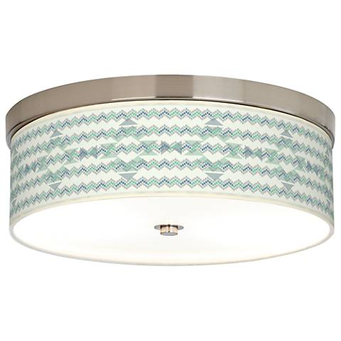 Triangular Stitch Giclee Energy Efficient Ceiling Light