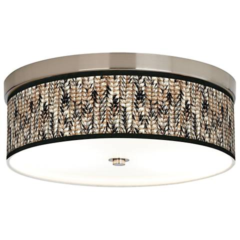 Braided Jute Giclee Energy Efficient Ceiling Light