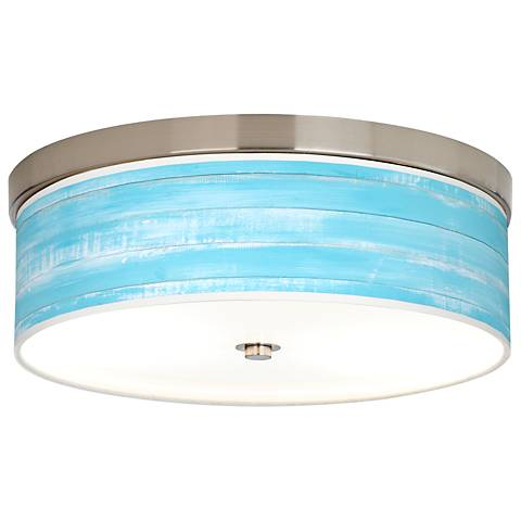 Barnyard Blue Giclee Energy Efficient Ceiling Light