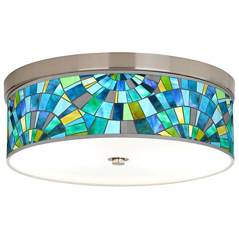 Lagos Mosaic Giclee Energy Efficient Ceiling Light