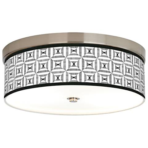 Tile Illusion Giclee Energy Efficient Ceiling Light